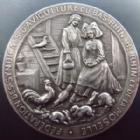 Photo numismatique  Monnaies Monnaies/medailles d'Alsace Bollwiller Médaille Bollwiller, médaille de 49 mm, société des aviculteurs 29 et 30 Avril 1913, pas de poinçons, petit coup sur tranche sinon SUPERBE