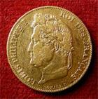 Photo numismatique  Monnaies Monnaies Fran�aises Louis Philippe 20 Francs or LOUIS PHILIPPE, 20 Francs or 1844 A, Gadoury 1031 TTB