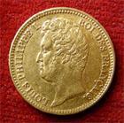 Photo numismatique  Monnaies Monnaies Fran�aises Louis Philippe 20 Francs or LOUIS PHILIPPE, 20 Francs or 1831 W Tranche en relief, Gadoury 1030 a TTB