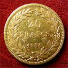 Photo numismatique  Monnaies Monnaies Françaises Louis Philippe 20 Francs or LOUIS PHILIPPE, 20 Francs or 1831 W Tranche en relief, Gadoury 1030 a TTB