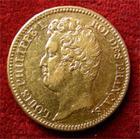 Photo numismatique  Monnaies Monnaies Fran�aises Louis Philippe 20 Francs or LOUIS PHILIPPE Ier, 20 Francs or 1831 A Tranche en relief, Gadoury 1030 a TTB