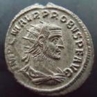 Photo numismatique  Monnaies Empire Romain PROBUS, PROBIO Antoninien, antoninianus, antoniniane PROBUS, antoninien Antioche en 280, Restitut Orbis / H, 3,86 grms, RIC.925 SUPERBE/TTB+
