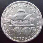 Photo numismatique  Monnaies Monnaies étrangères U.S.A Half dollar, Colombus, Christophe Colomb USA, Etats Unis, half dollar 1893, Columbian half dollar, KM.117 TTB