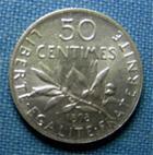 Photo numismatique  Monnaies Monnaies Françaises Troisième République 50 Centimes IIIème République, 50 Centimes type semeuse 1898, Gadoury 420 SUP à FDC