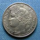 Photo numismatique  Monnaies Monnaies Fran�aises Troisi�me R�publique 50 Centimes III�me R�publique, 50 Centimes type C�r�s 1872 A, Gadoury 419 a SUPERBE