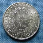 Photo numismatique  Monnaies Monnaies Françaises Troisième République 50 Centimes IIIème République, 50 Centimes type Cérès 1895 A, Gadoury 419 a SUP à FDC