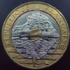 Photo numismatique  Monnaies Monnaies Françaises Cinquième république 20 Francs 20 francs Mont Saint Michel, 1992 V ouvert, G.871  SUPERBE
