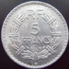 Photo numismatique  Monnaies Monnaies Françaises 4ème république 5 Francs 5 francs Lavrillier 1949 B Aluminium, G.766a SUPERBE+/SUPERBE