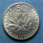 Photo numismatique  Monnaies Monnaies Françaises Troisième République 50 Centimes IIIème République, 50 Centimes type semeuse 1900, Gadoury 420 SUPERBE+