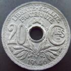Photo numismatique  Monnaies Monnaies Françaises Gouvernement Provisoire 20 Cmes 20 centimes 1946 zinc, G.324 TTB à SUPERBE