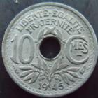Photo numismatique  Monnaies Monnaies Françaises Gouvernement Provisoire 10 Centimes 10 centimes 1945 C zinc petit module, G.292 TTB à SUPERBE