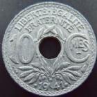 Photo numismatique  Monnaies Monnaies Françaises Etat Français 10 Centimes 10 centimes 1941 zinc, points et cmes souligné, G.288 c  SUPERBE+