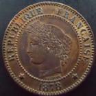 Photo numismatique  Monnaies Monnaies Françaises Troisième République 2 Centimes 2 centimes Cérès 1878 A, G.105 SUPERBE