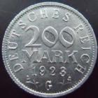 Photo numismatique  Monnaies Allemagne après 1871 Allemagne, Deutschland, Weimar republik, republique de Weimar 200 Mark Allemagne, Deutschland, Germany, Républisue de Weimar, Weimar Republik, 200 mark 1923 G, J.304 TTB à SUPERBE