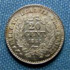 Photo numismatique  Monnaies Monnaies Françaises Deuxième République 20 Cmes Iième République, 20 Centimes type Cérès 1850 A,oreille recourbé, Gadoury 303 SUPERBE