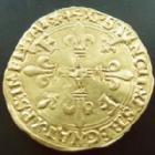 Photo numismatique  Monnaies Monnaies royales en or François Ier Ecu d'or au soleil, Lyon FRANCOIS Ier, Ecu d'or au soleil 5 eme type Lyon (trèfle en fin de légende), 21 Juillet 1519, 3,39 grms, DY.775 TTB