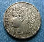 Photo numismatique  Monnaies Monnaies Fran�aises Troisi�me R�publique 2 Francs III�me R�publique, 2 Francs type c�r�s 1894 A, Gadoury 530 a TTB+/SUPERBE