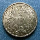 Photo numismatique  Monnaies Monnaies Françaises Troisième République 2 Francs IIIème République, 2 Francs type cérès 1894 A, Gadoury 530 a TTB+/SUPERBE