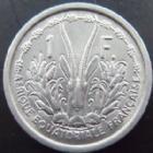Photo numismatique  Monnaies Anciennes colonies Françaises Afrique Equatoriale Française 1 Franc Afrique Equatoriale Française, 1 franc 1948, LEC.15 SUPERBE+