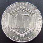 Photo numismatique  Monnaies Monnaies Fran�aises Cinqui�me r�publique 1 franc De Gaulle sans diff�rents 1 franc De Gaulle sans diff�rents, 1988, G.475 TTB R!