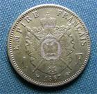 Photo numismatique  Monnaies Monnaies Françaises Second Empire 1 Franc Second Empire, NAPOLEON III, 1 Franc 1867 K Bordeaux, Gadoury463 TTB+