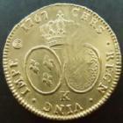 Photo numismatique  Monnaies Monnaies royales en or Louis XV Double louis d'or au bandeau LOUIS XV, double Louis d'or au Bandeau 1767 K Bordeaux, L4L.491 TTB
