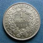 Photo numismatique  Monnaies Monnaies Fran�aises Troisi�me R�publique 1 Franc III�me R�publique, 1 Franc type C�r�s 1888 A Paris, Gadoury 465 a SUPERBE +