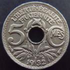 Photo numismatique  Monnaies Monnaies Françaises Troisième République 5 centimes Lindauer 5 centimes Lindauer 1932, G.170 SUPERBE