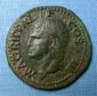 Photo numismatique  Monnaies Empire Romain AGRIPPA As, asse,  AGRIPPA, As, restitution de Caligula, Rome en 40.41, Cohen 3 TTB patine verte