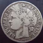 Photo numismatique  Monnaies Monnaies Françaises Défense nationale 2 Francs 2 francs Cérès 1870 pt A, G.530 TB