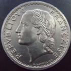 Photo numismatique  Monnaies Monnaies Françaises Troisième République 5 Francs 5 Francs Lavrillier 1938, G.760 petit coup sur tranche sinon TTB à SUPERBE