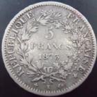 Photo numismatique  Monnaies Monnaies Françaises Troisième République 5 Francs 5 francs Hercule 1873 K Bordeaux, G.745a TB/TTB