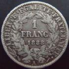 Photo numismatique  Monnaies Monnaies Françaises Troisième République 1 Franc 1 franc Cérès 1888 A, G.465a TTB