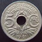 Photo numismatique  Monnaies Monnaies Françaises Troisième République 5 centimes Lindauer 5 centimes Lindauer 1921, G.170 SUPERBE