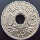 Photo numismatique  Monnaies Monnaies Françaises Troisième République 10 centimes Lindauer 10 centimes Lindauer 1920, G.286 presque SUPERBE