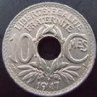 Photo numismatique  Monnaies Monnaies Françaises Troisième République 10 centimes Lindauer 10 centimes Lindauer 1917, G.286 presque SUPERBE
