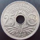 Photo numismatique  Monnaies Monnaies Françaises Troisième République 25 centimes Lindauer 25 centimes Lindauer 1937, G.380 SUPERBE