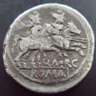 Photo numismatique  Monnaies R�publique Romaine Marcia 148 avant Jc Denier, denar, denario, denarius Q.MARCIUS LIBO, Denier Rome en 148 avant Jc, Les Dioscures, 3,50 grms, RSC.Marcia 1, TB � TTB