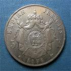 Photo numismatique  Monnaies Monnaies Françaises Second Empire 5 Francs NAPOLEON III, Second empire, 1856 BB Strasbourg, 5  Francs tête nue, Gadoury 734 TB/TTB