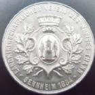 Photo numismatique  Monnaies Monnaies/medailles d'Alsace Cernay, Senheim Médaille CERNAY, SENNHEIM, médaille en étain 39 mm, Landwirthschaftlicher verein des kreise Thann, Sennheim 1884, petits coups sinon TTB à SUPERBE R!