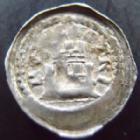 Photo numismatique  Monnaies Monnaies/médailles de Lorraine Simon II Denier, denar, denario, denarius Seigneurie de Neufchateau, Simon II 1200-1250, denier anonyme, 0,70 grm, Flon 2 P.277 TB à TTB Rare!