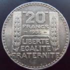 Photo numismatique  Monnaies Monnaies Françaises Troisième République 20 Francs 20 francs Turin 1933 rameaux longs, G.852 TTB+