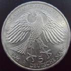 Photo numismatique  Monnaies Allemagne après 1871 Allemagne BDR, Deutschland BDR, Germay BDR 5 mark von Grimmelshausen Allemagne, Deutschland, Germany, 5 mark 1976 D, Von Grimmelshausen, argent, SUPERBE