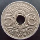 Photo numismatique  Monnaies Monnaies Françaises Troisième République 5 centimes Lindauer 5 centimes Lindauer 1925, G.170 SUPERBE