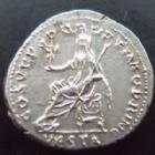 Photo numismatique  Monnaies Empire Romain TRAJAN, TRAJANUS, TRAIAN, TRAIANO Denier, denar, denario, denarius TRAJANUS, TRAJAN, denier Rome en 111, Vesta, 3,16 grms, RIC.108 presque SUPERBE