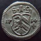 Photo numismatique  Monnaies Allemagne avant 1871 Allemagne, Deutschland, Nurnberg, Nuremberg Pfennig Nurnberg, Nuremberg, Pfennig 1714, 0,31 grm, KM.193 SUPERBE à FDC