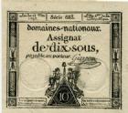 Photo numismatique  Billets Billets de confiance Assignats Domaine Nationaux Assignat de dix sous Assignat de dix sous, 23 Mai 1793, signé Guyon, serie 683, TTB+