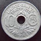 Photo numismatique  Monnaies Monnaies Françaises Gouvernement Provisoire 10 Centimes 10 centimes zinc 1945, G.292 TTB+