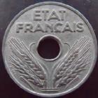 Photo numismatique  Monnaies Monnaies Françaises Etat Français 20 Centimes 20 centimes zinc 1943, G.321 SUPERBE+