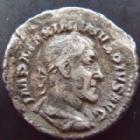 Photo numismatique  Monnaies Empire Romain MAXIMIN I, MAXIMINUS I, MAXIMINO I Denier, denar, denario, denarius MAXIMINUS I, MAXIMIN Ier le Thrace, denier Rome en 235-236, Pax Augusti, 2,55 grms, RIC.12 B à TB